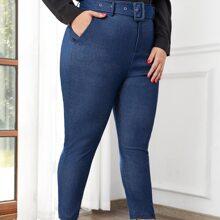 Pantalones Extra Grande Cinta Liso Casual