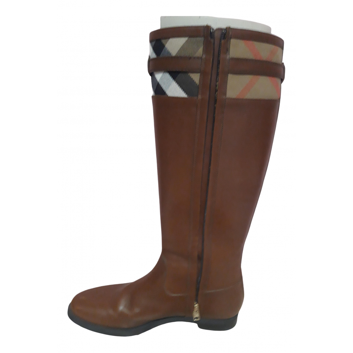 Burberry \N Brown Leather Boots for Women 39 EU