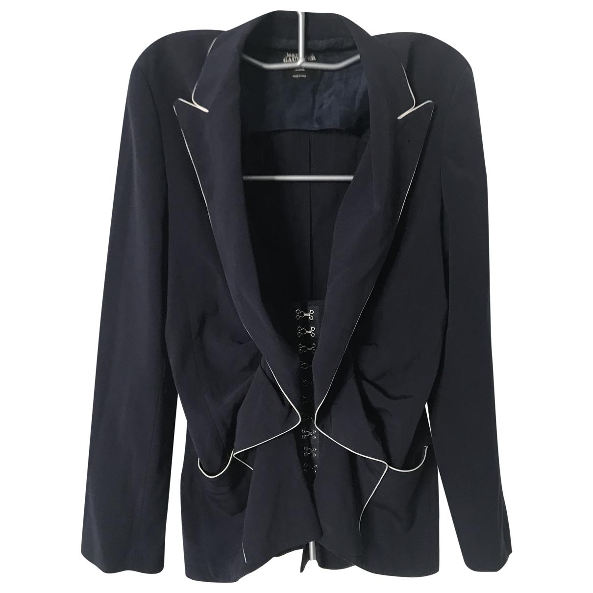 Jean Paul Gaultier \N Jacke in  Marine Wolle