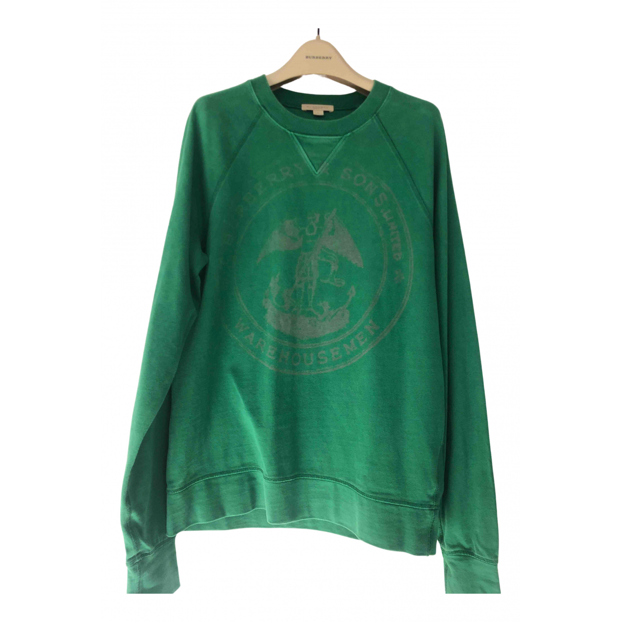 Burberry \N Pullover.Westen.Sweatshirts  in  Gruen Baumwolle