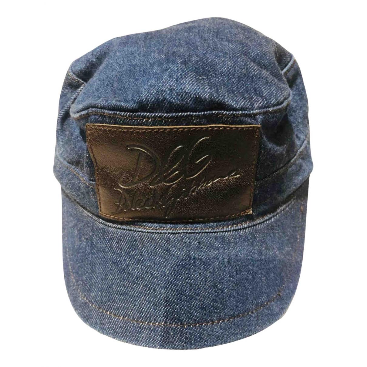 D&g - Chapeau & Bonnets   pour homme en coton - bleu