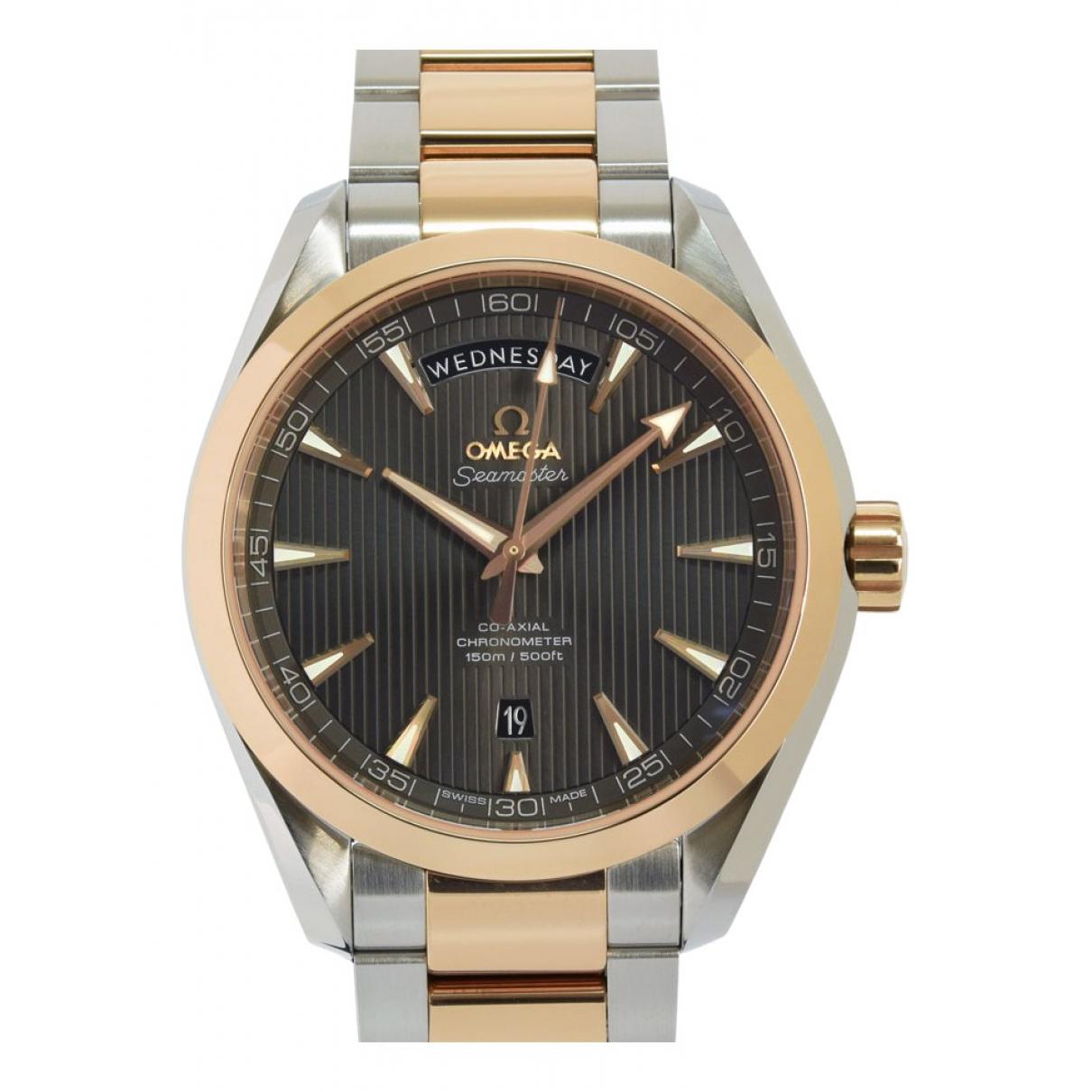 Omega Seamaster Aquaterra Uhr in  Grau Gold und Stahl
