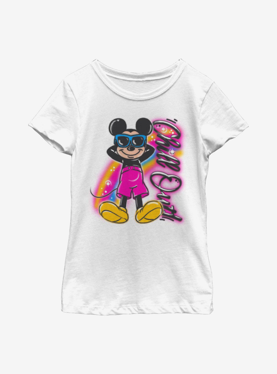 Disney Mickey Mouse Airbrushed Mickey Youth Girls T-Shirt