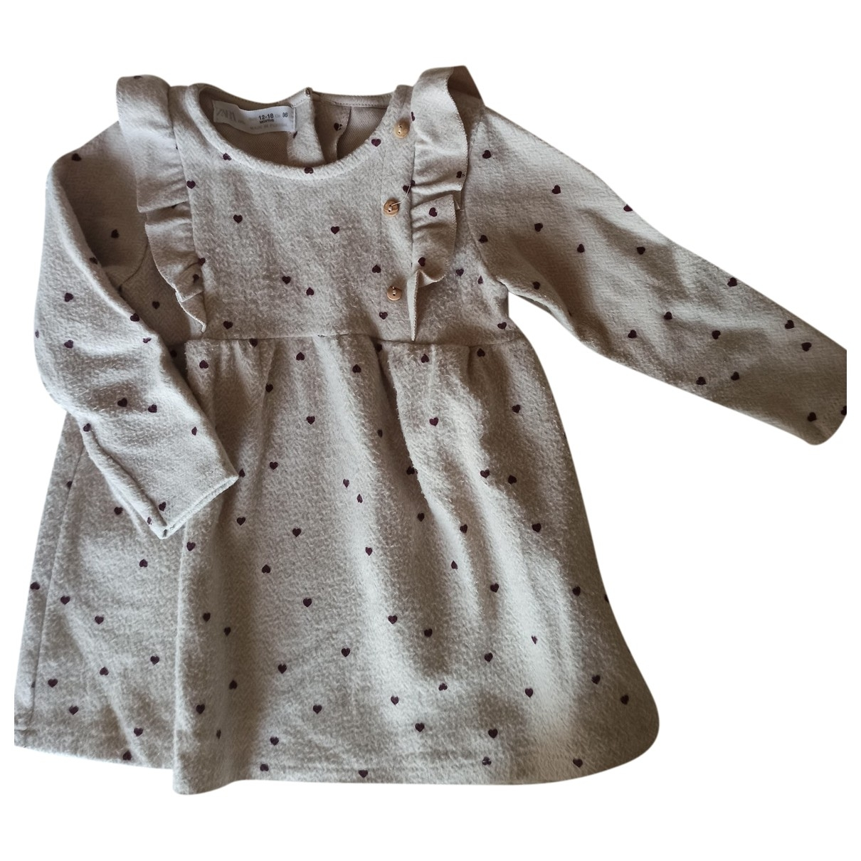 Zara - Robe    pour enfant en coton - beige