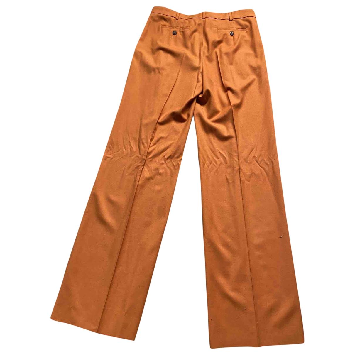 Max Mara - Pantalon   pour femme en laine - orange