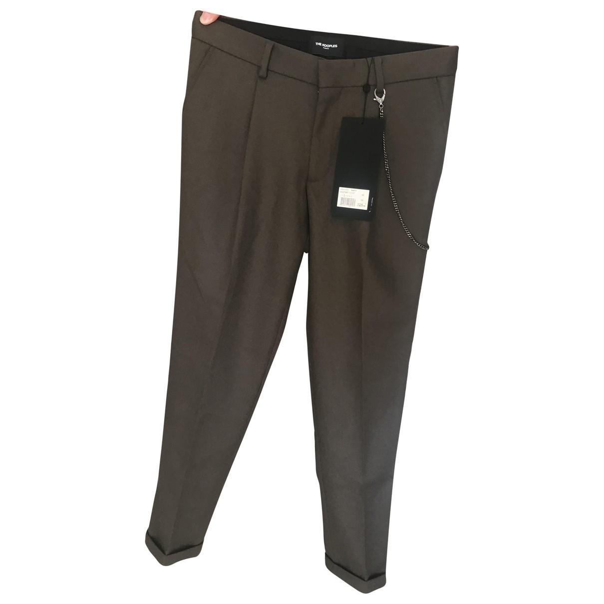 Pantalones Fall Winter 2019 en Algodon Caqui The Kooples