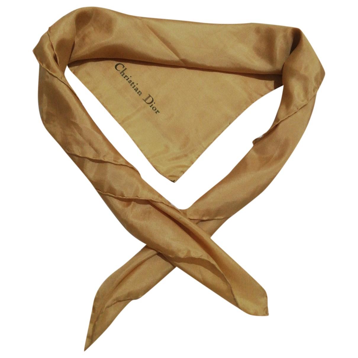 Dior \N Gold Silk scarf for Women \N