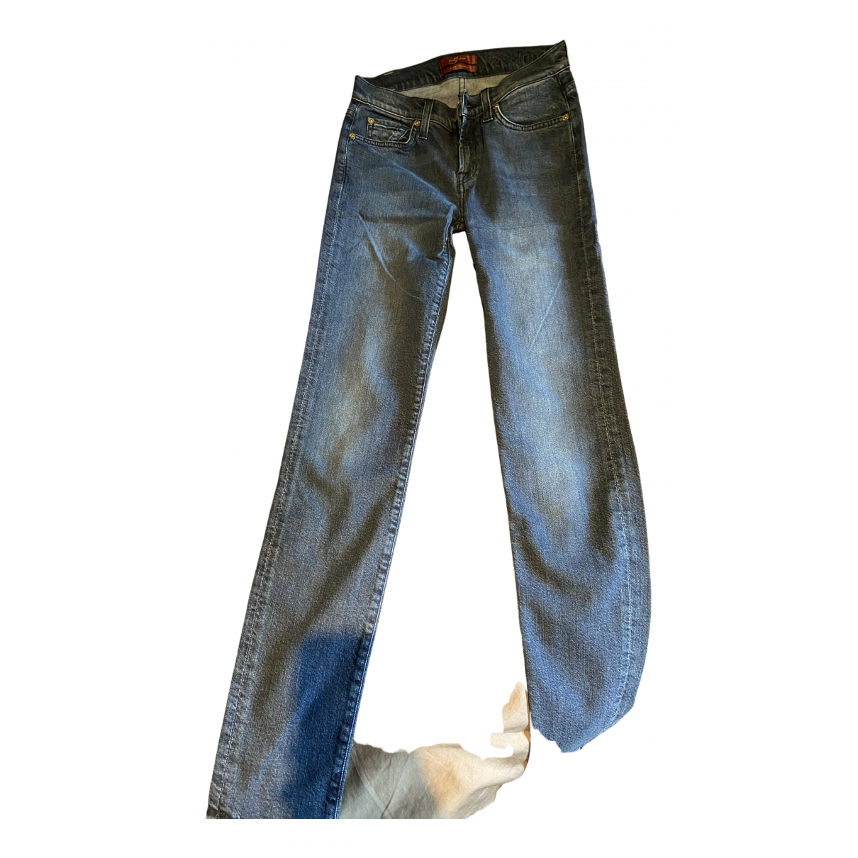 7 For All Mankind N Blue Cotton Jeans for Women 25 US