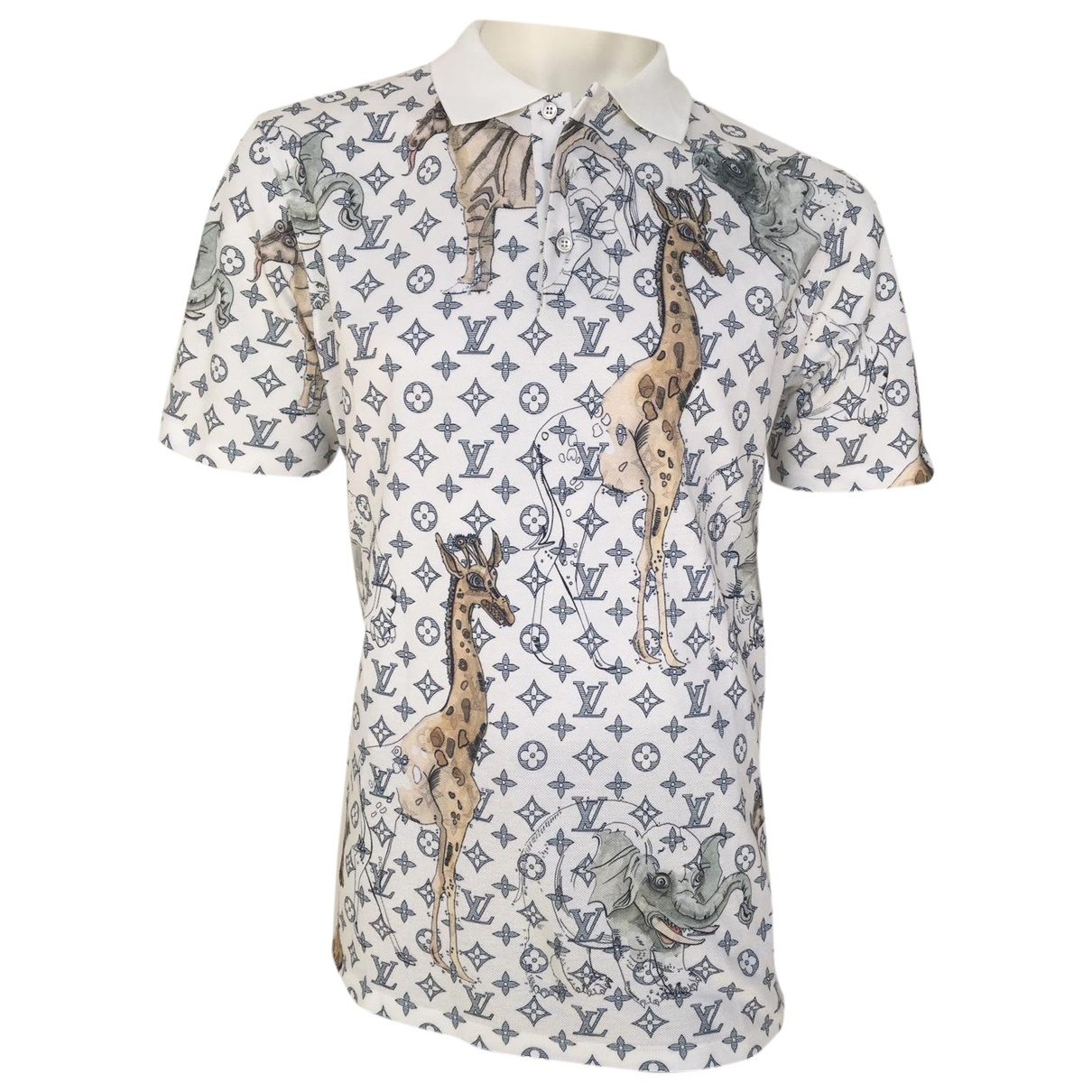 Louis Vuitton - Polos   pour homme en coton - blanc