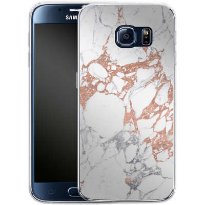 Samsung Galaxy S6 Silikon Handyhuelle - Marble Mix von #basic