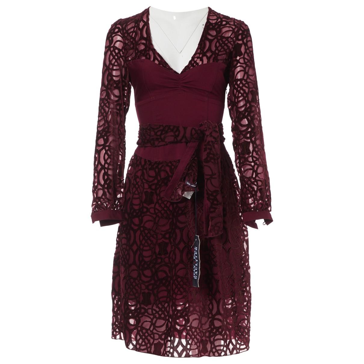 Jean Paul Gaultier \N Kleid in  Bordeauxrot Viskose