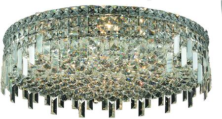 V2031F24C/RC 2031 Maxime Collection Flush Mount D:24In H:7In Lt:9 Chrome Finish (Royal Cut