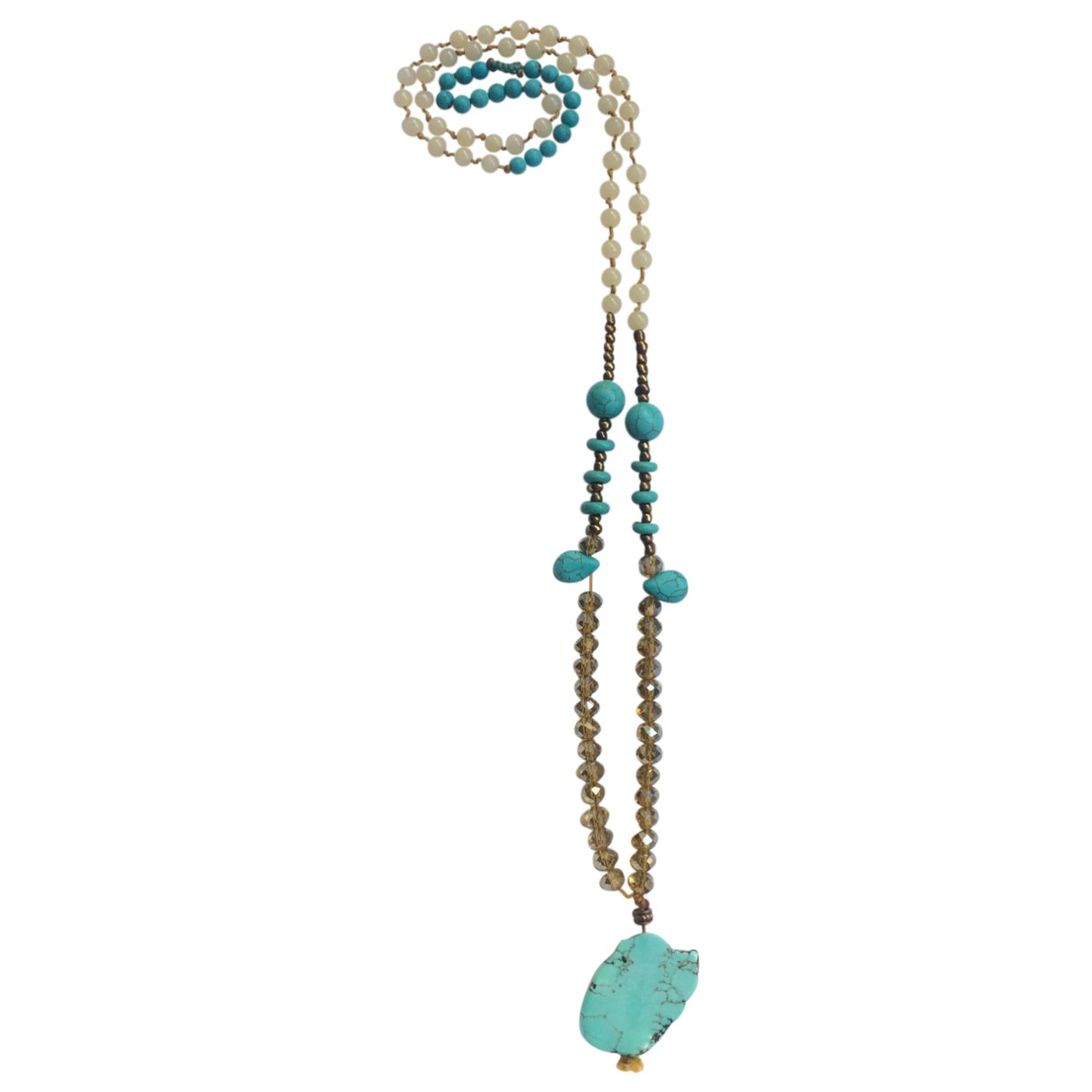 Non Signé / Unsigned Turquoises Turquoise Crystal Long necklace for Women \N