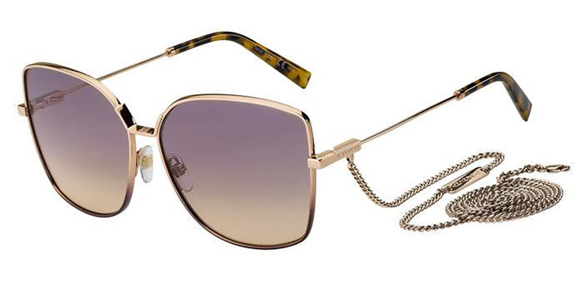 Givenchy GV 7184/G/S EYR/O9 Mens Sunglasses Gold Size 61