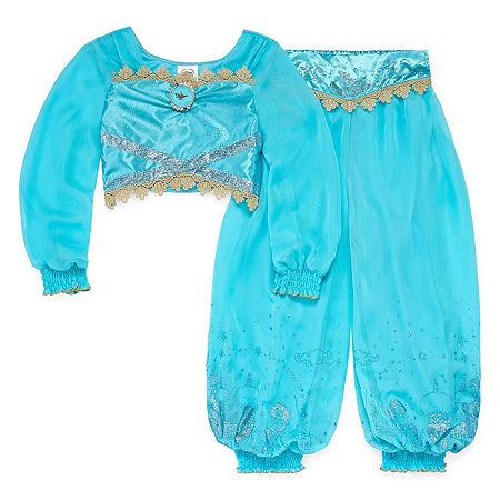 Disney Collection Jasmine Girls Costume, 5-6 , Blue