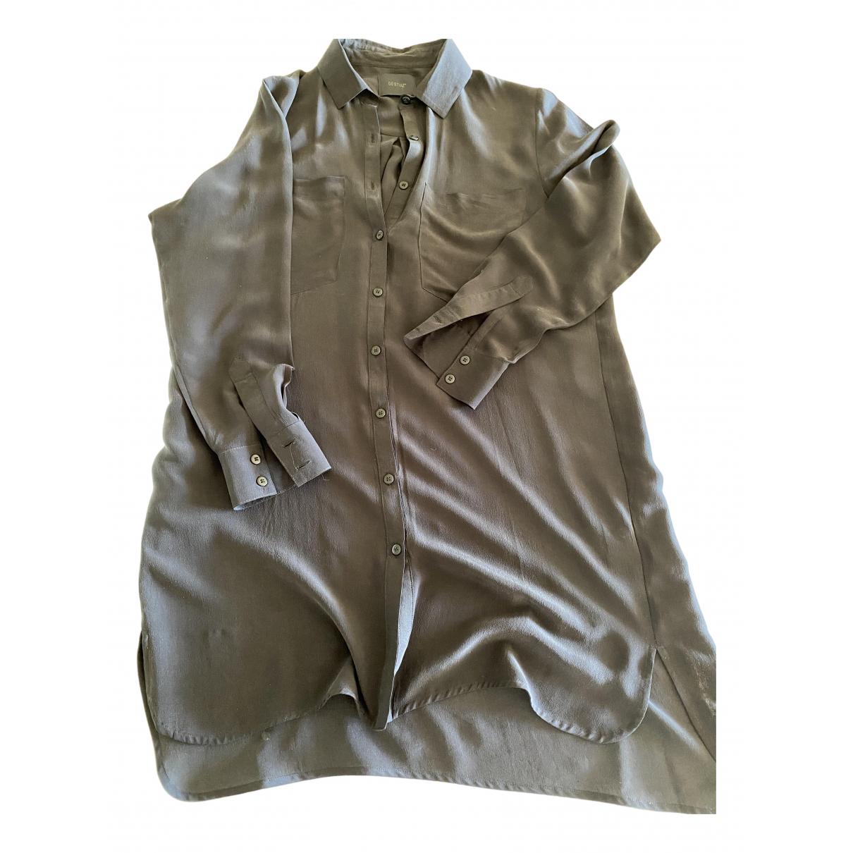Gestuz - Top   pour femme en soie - noir