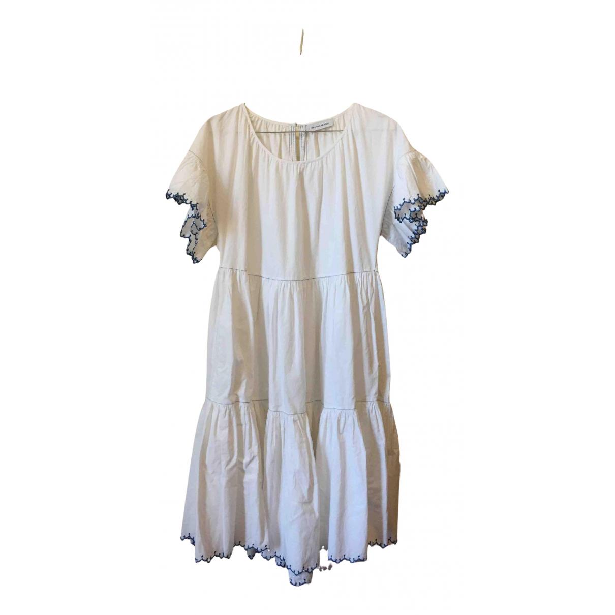Silvian Heach \N Kleid in  Weiss Baumwolle