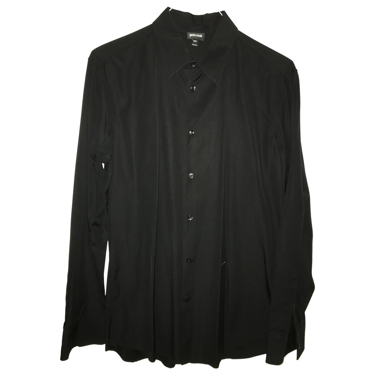 Just Cavalli \N Black Cotton Shirts for Men L International