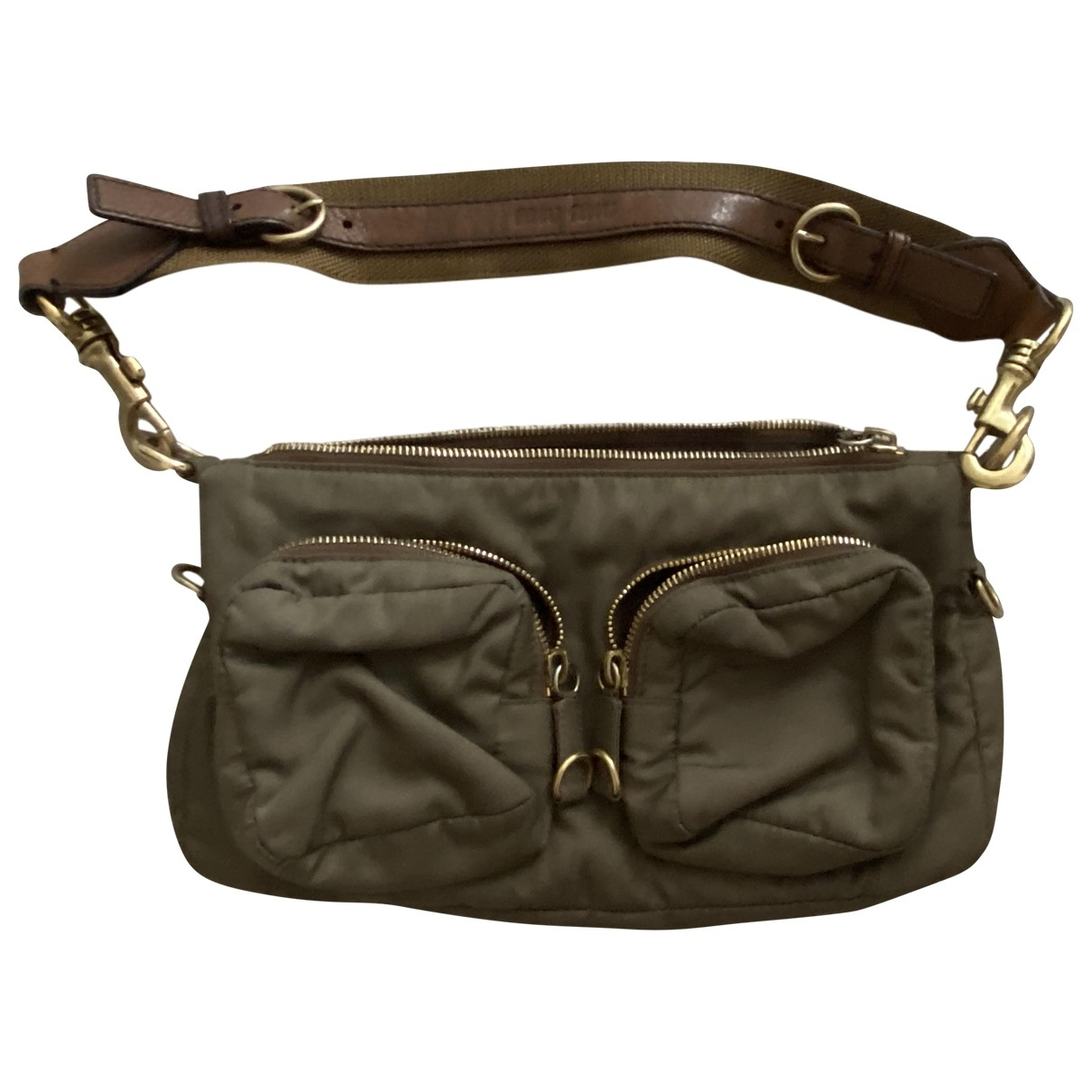 Miu Miu \N Handtasche in  Gruen Leinen