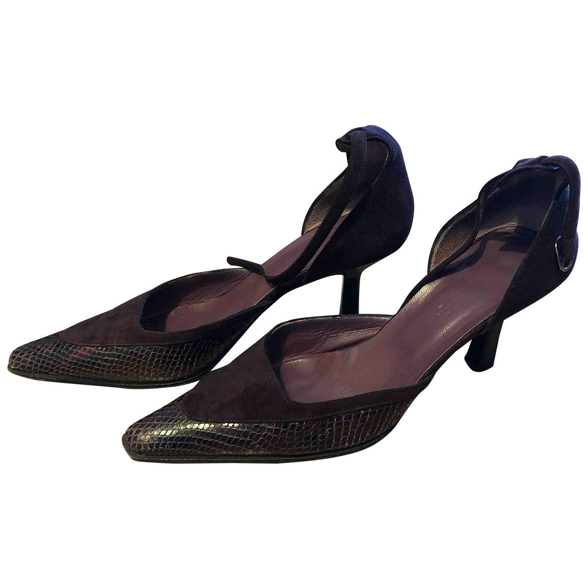Max Mara \N Burgundy Leather Heels for Women 40 EU