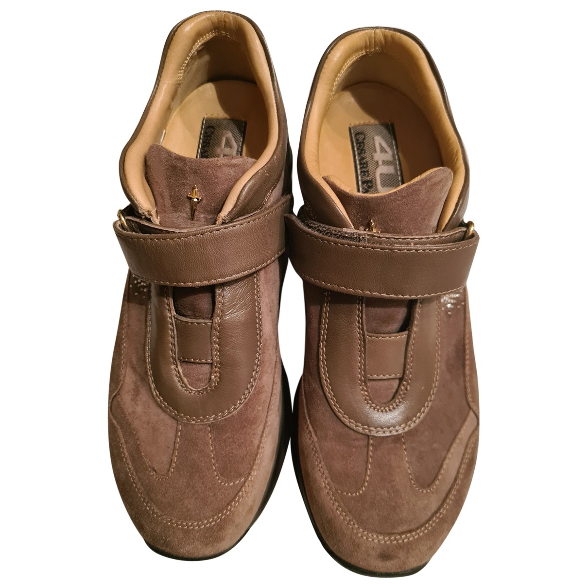 Cesare Paciotti \N Brown Leather Trainers for Women 35 IT