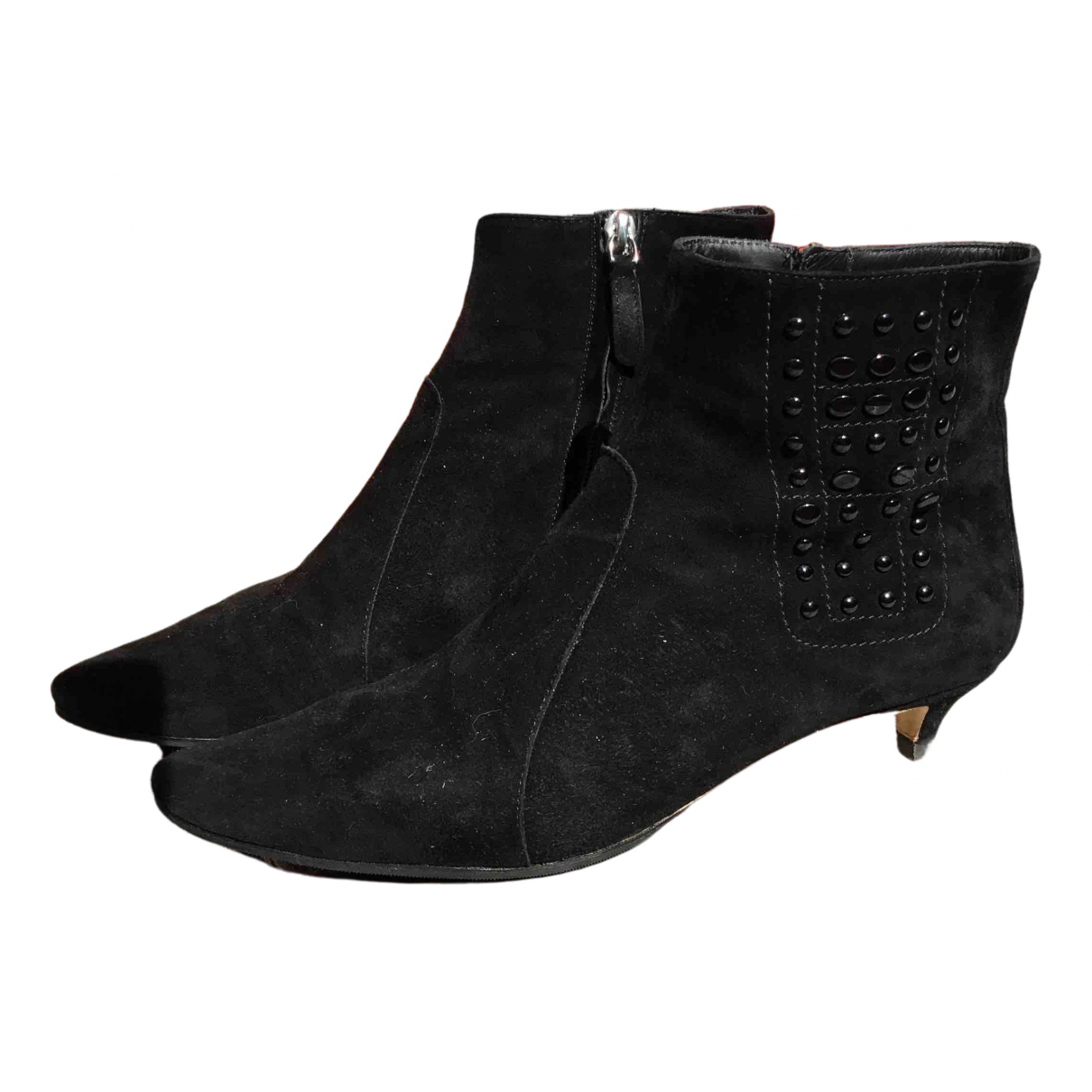 Tod's \N Black Suede Ankle boots for Women 38 EU