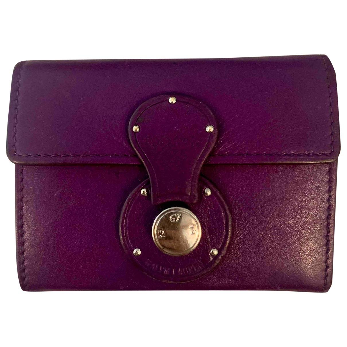 Ralph Lauren - Petite maroquinerie   pour femme en cuir - violet