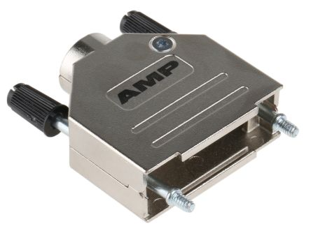 TE Connectivity , ADK Series Zinc D-sub Connector Backshell, 15 Way, Strain Relief, Silver
