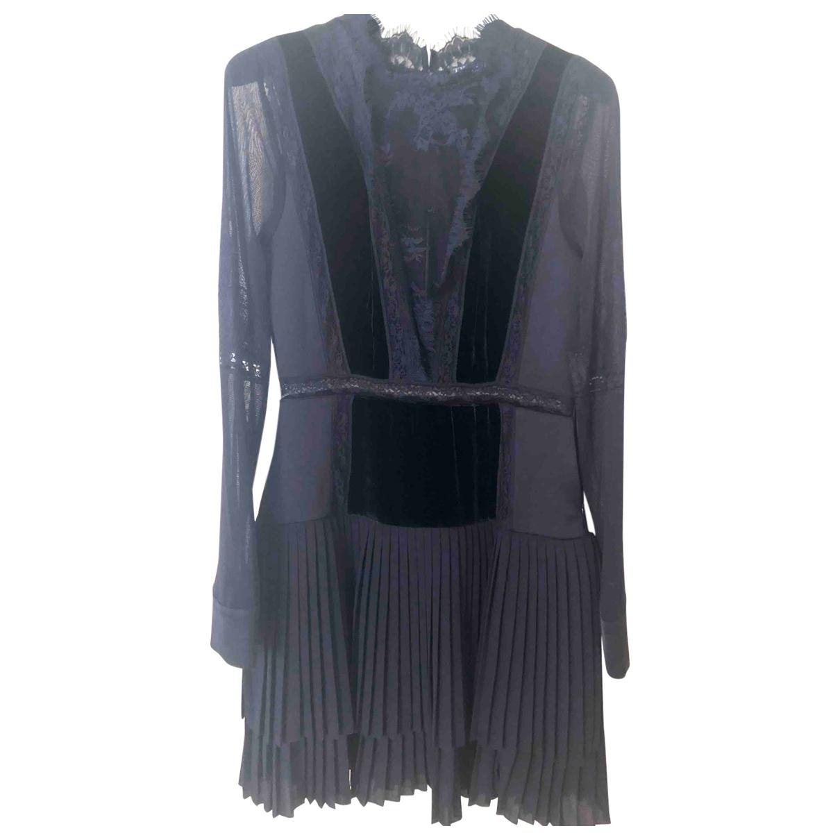 Twin Set - Robe   pour femme en soie - noir