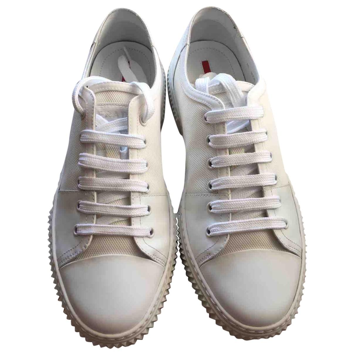 Prada \N White Cloth Trainers for Men 8 UK