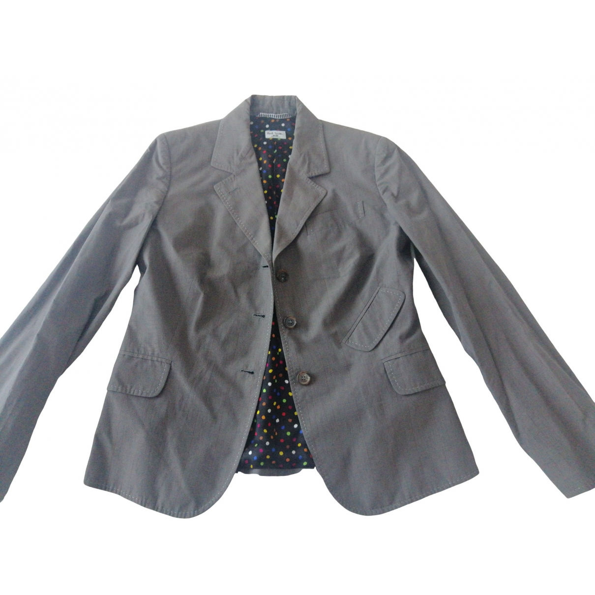 Paul Smith Blue - Veste   pour femme en coton - gris