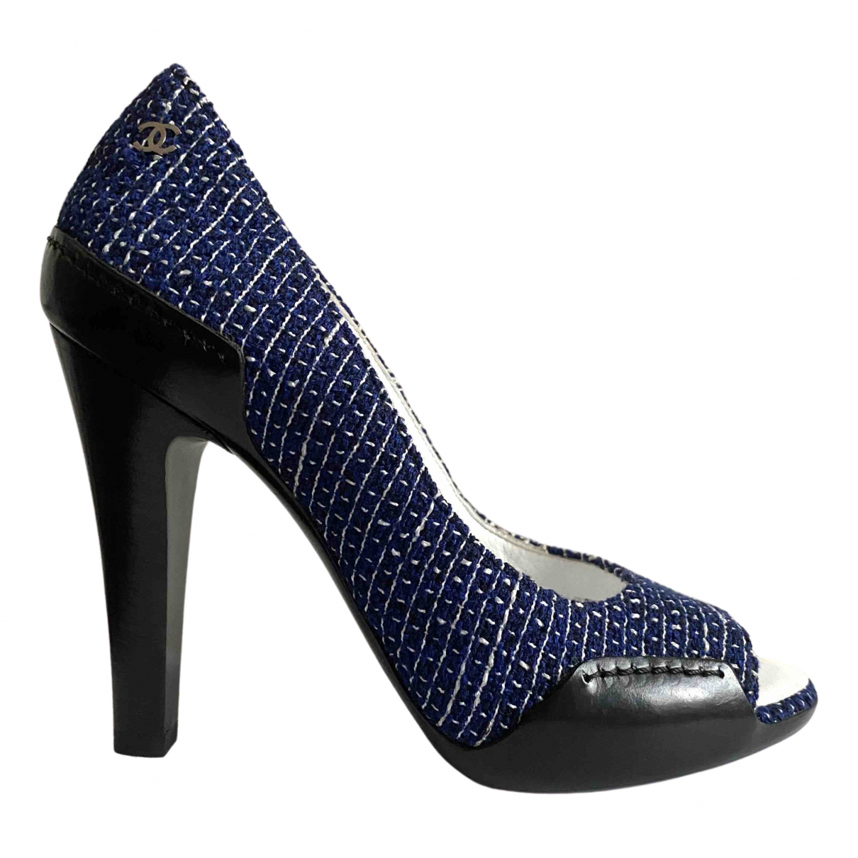 Chanel - Escarpins   pour femme en tweed - bleu