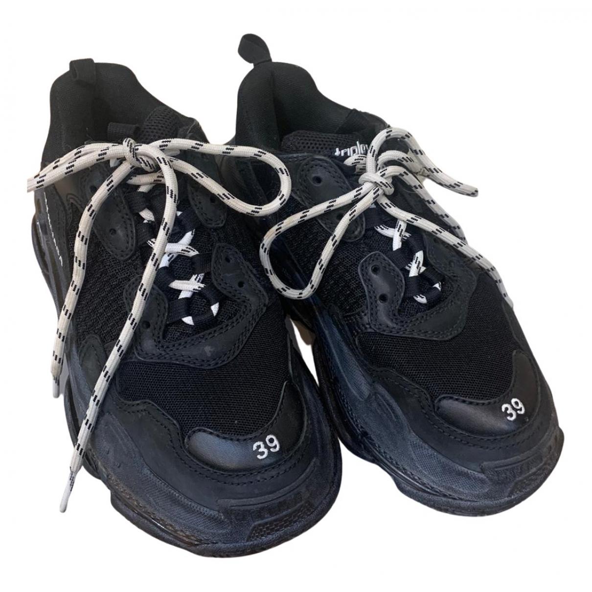 Balenciaga Triple S Sneakers in  Schwarz Kautschuk