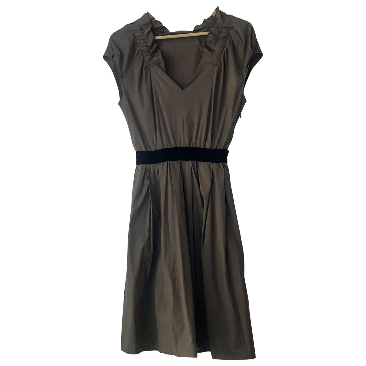 Pinko \N Brown Cotton dress for Women 42 IT