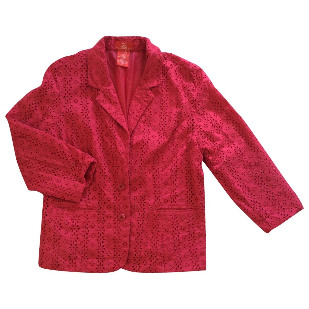 Oscar De La Renta \N Pink Cotton jacket for Women 14-16 US