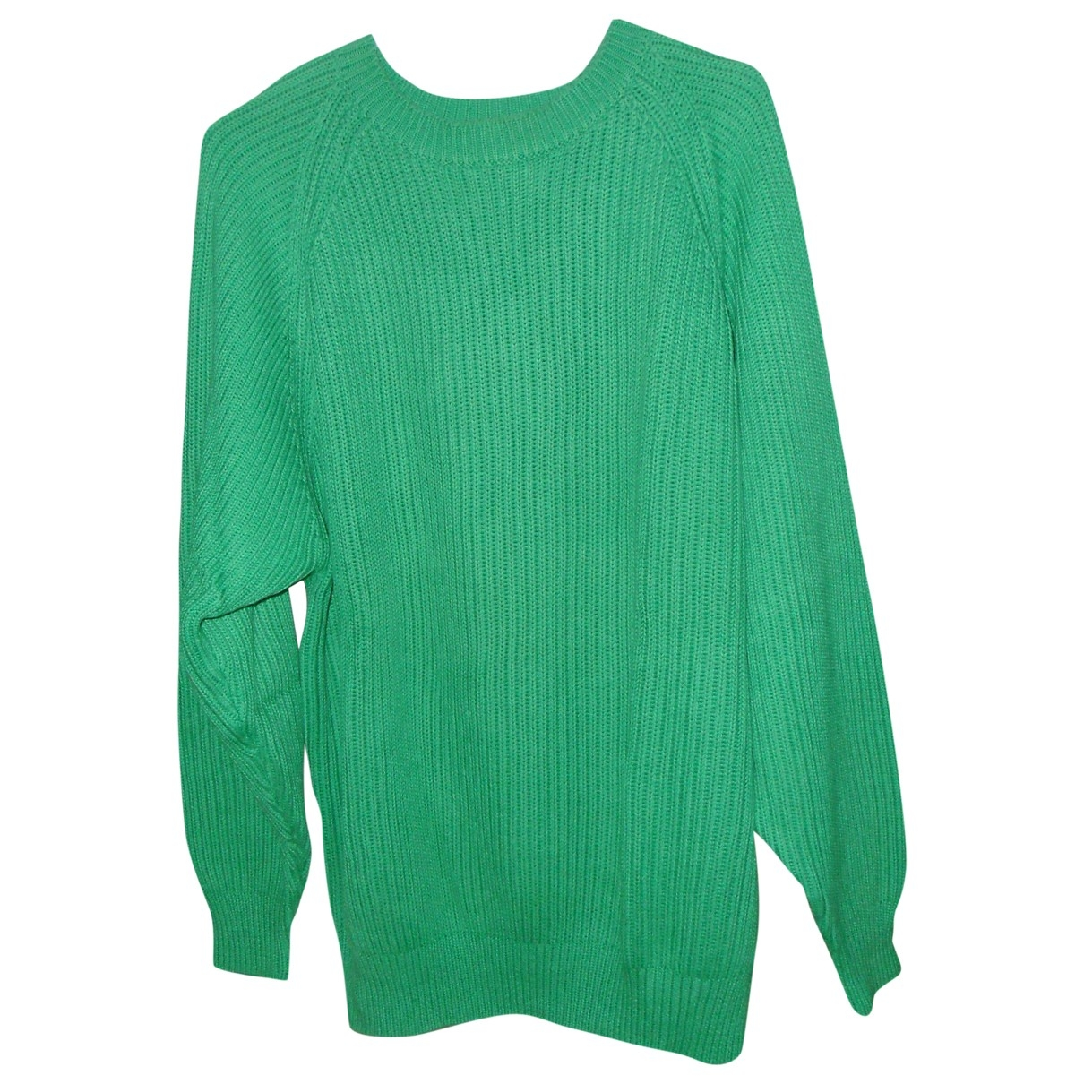 Cerruti \N Pullover.Westen.Sweatshirts  in  Gruen Baumwolle