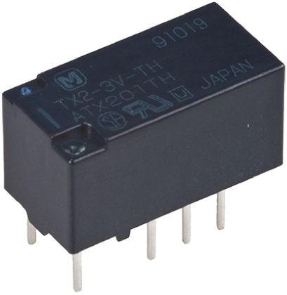 Panasonic DPDT PCB Mount Latching Relay - 7.5 A, 4.5V dc