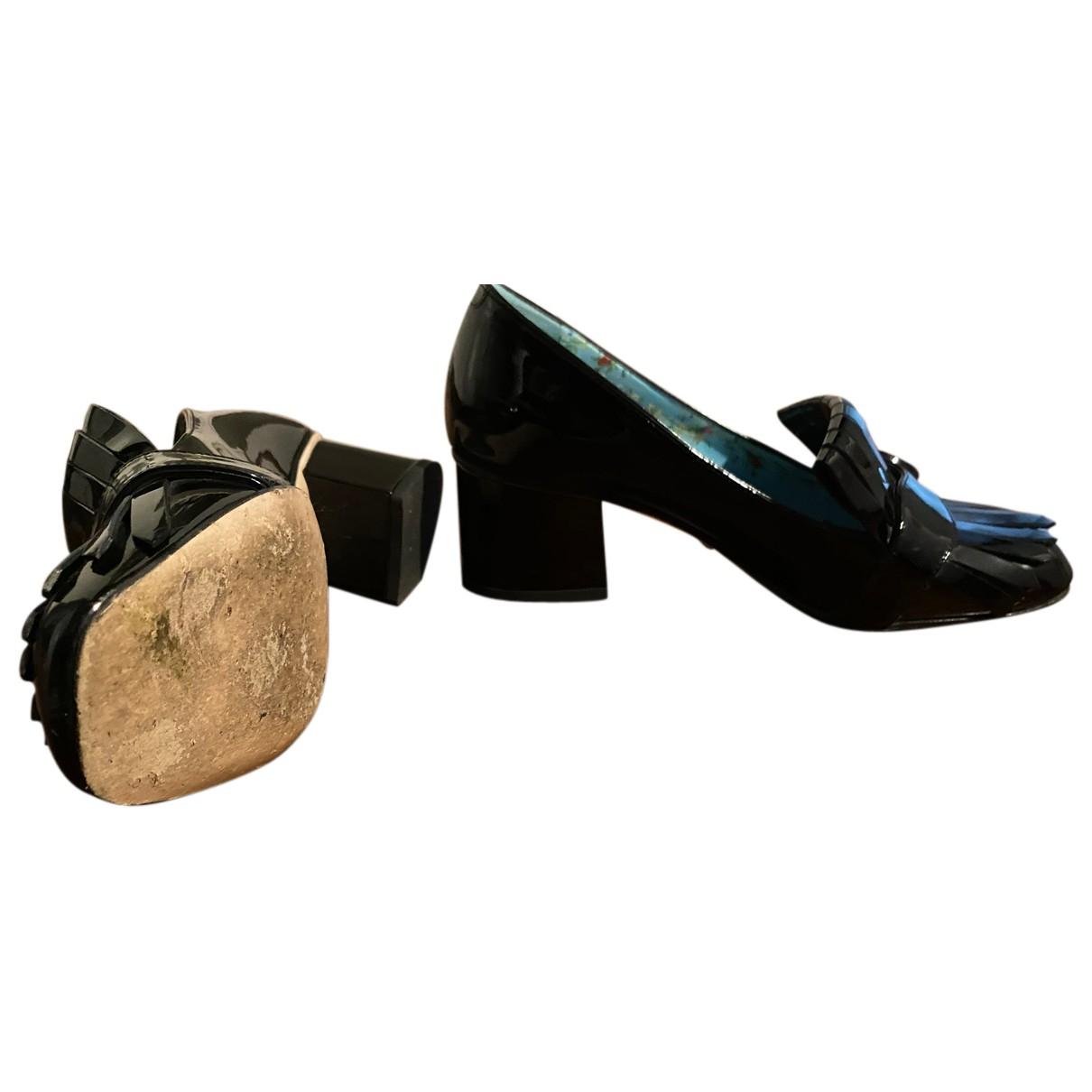 Gucci - Escarpins Marmont pour femme en cuir verni - noir