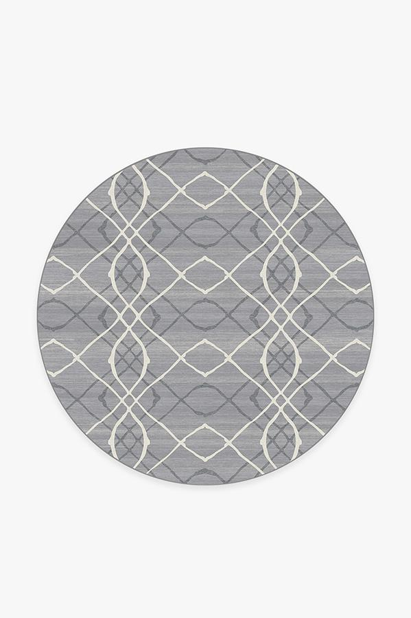 Washable Rug Cover | Amalia Grey Rug | Stain-Resistant | Ruggable | 6' Round