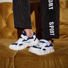 Boys Mesh Panel Velcro Strap Chunky Sneakers