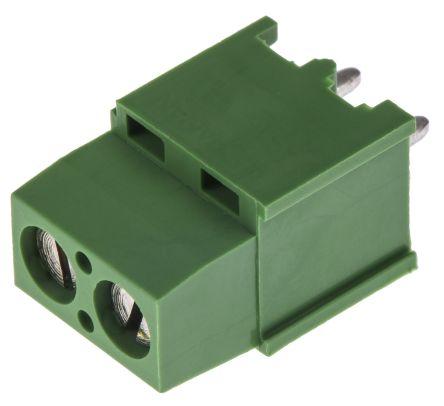 TE Connectivity , Buchanan 5.08mm Pitch, 2 Way PCB Terminal Block, Green (5)