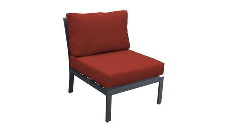 TKC067b-AS-TERRACOTTA Armless Chair - Ash and Terracotta