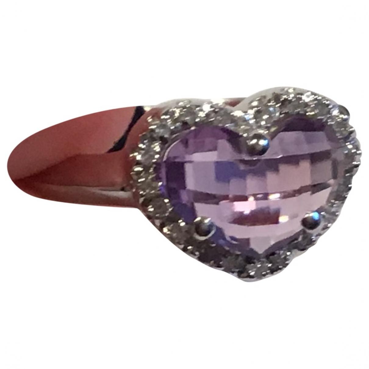 - Bague Motifs Coeurs pour femme en or blanc - blanc