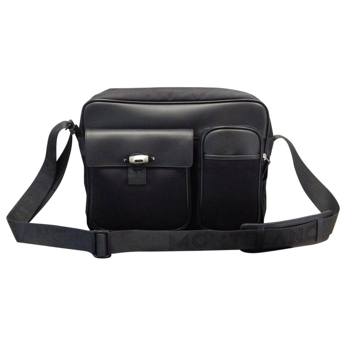 Montblanc \N Black Cloth bag for Men \N