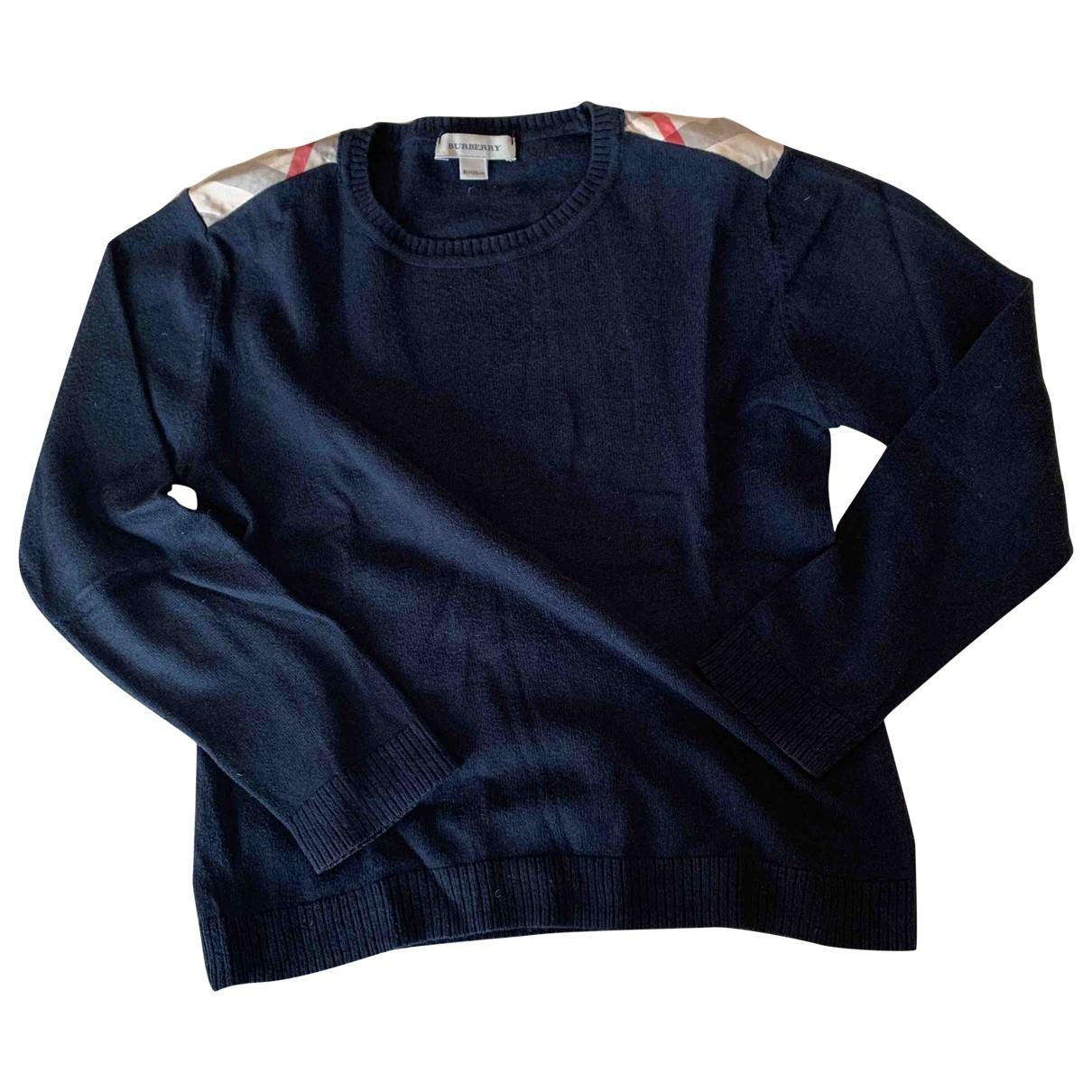 Burberry - Pull   pour enfant en coton - bleu