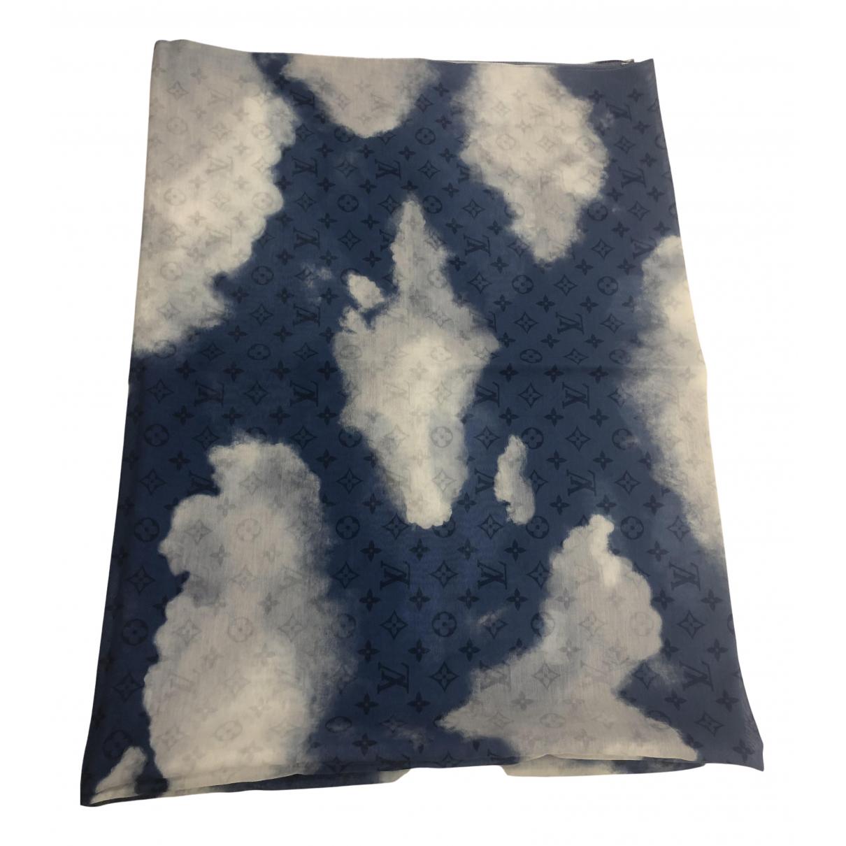 Louis Vuitton \N Tuecher, Schal in  Blau Baumwolle