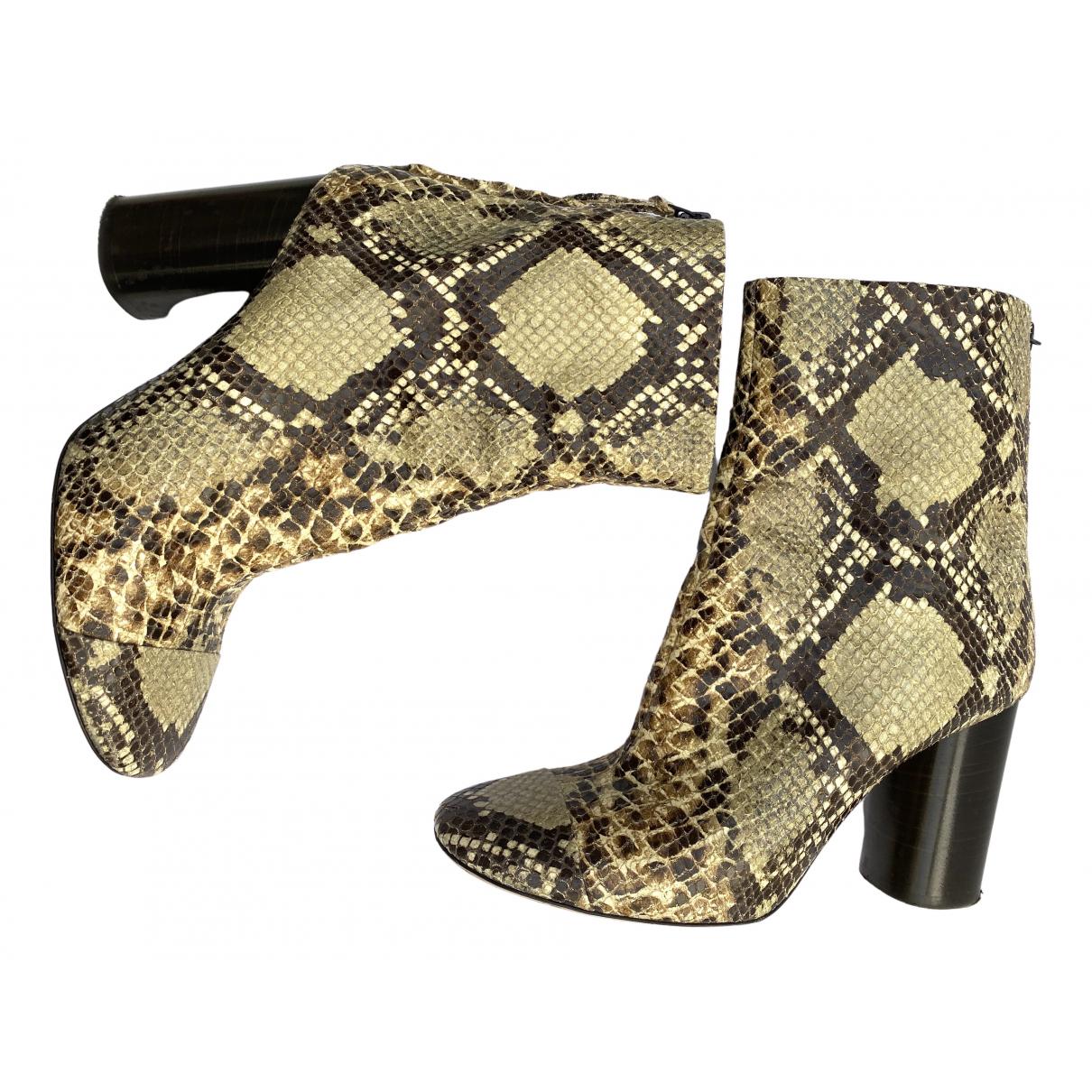 Isabel Marant - Boots   pour femme en cuir - beige