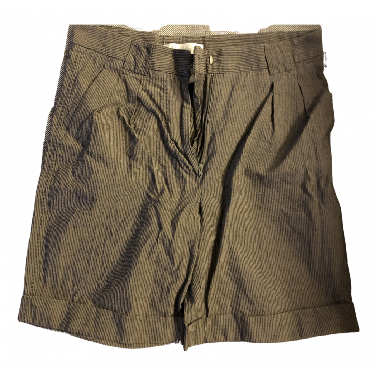 Max Mara \N Grey Cotton Shorts for Women 6 US