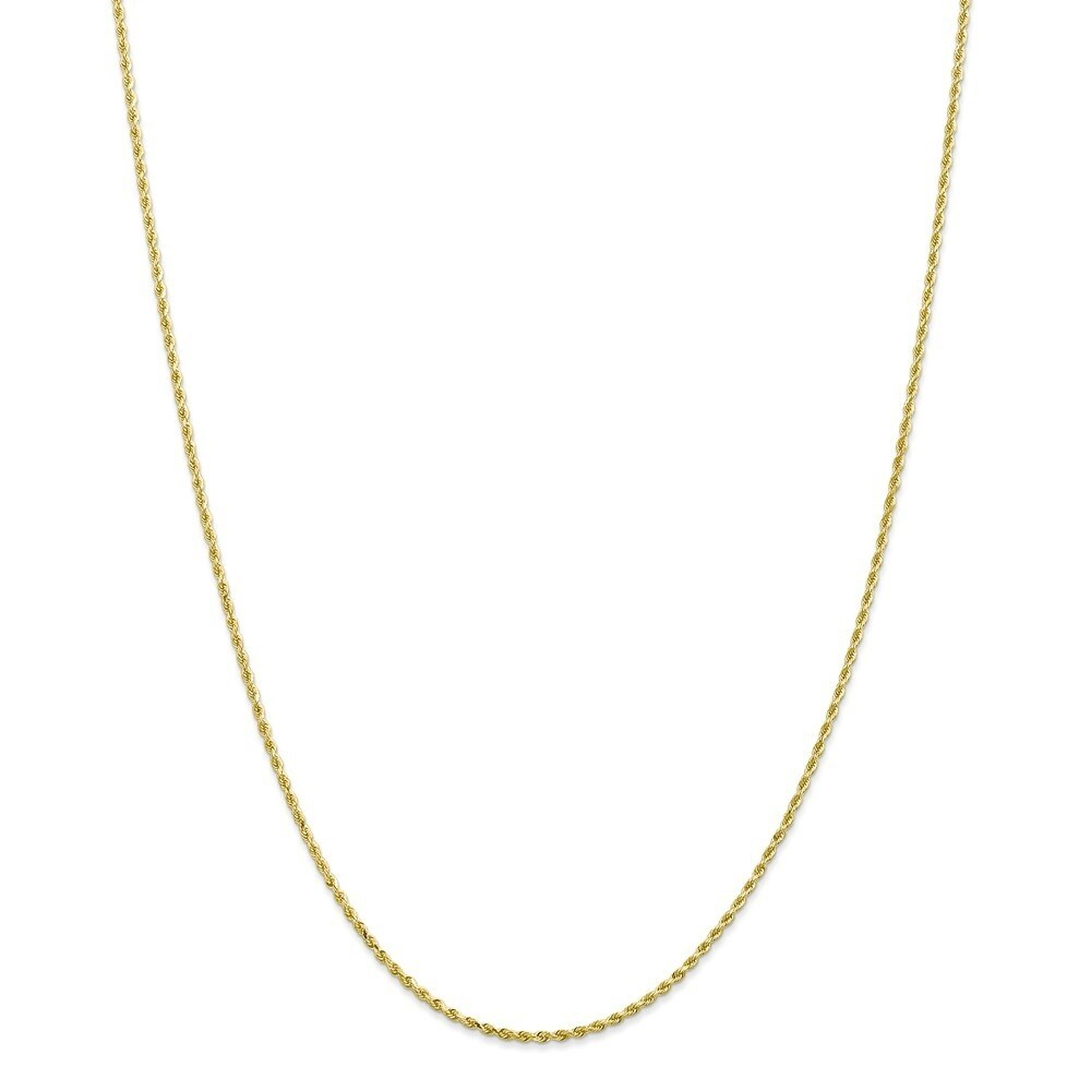 Curata 10k Yellow Gold Solid 1.75mm Diamond-cut Rope Chain Necklace Options 16 18 20 22 24 30 (16 Inch)
