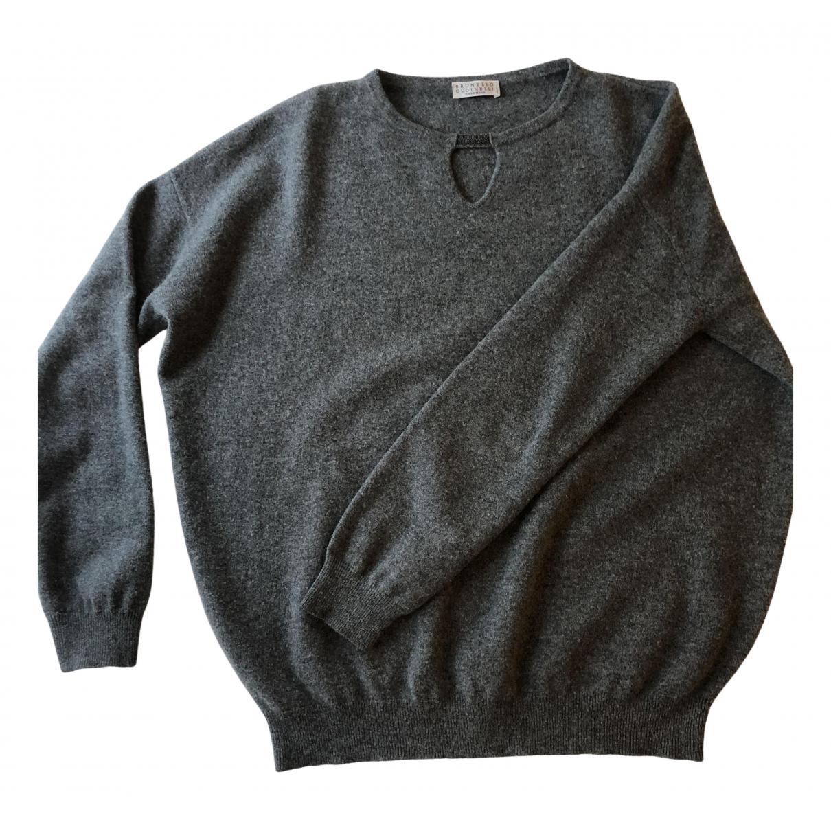 Brunello Cucinelli - Pull   pour femme en laine - gris